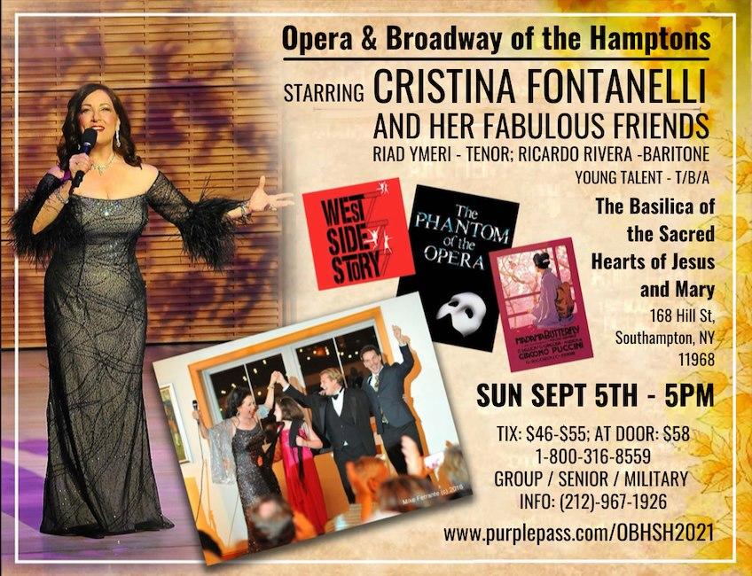 September 5 Opera & Broadway of the Hamptons